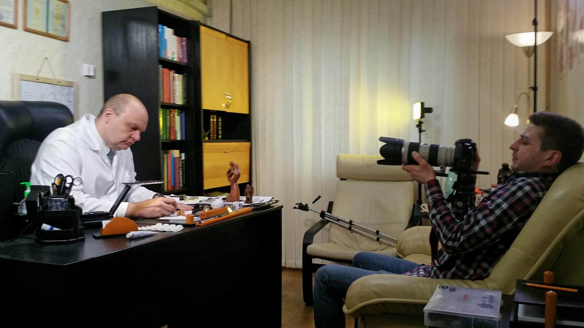 На съемке телеканала Мир